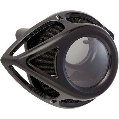 Arlen Ness Air Cleaner Clear Tear Black, 91-Up XL Sportster (18-998, 1010-2560)