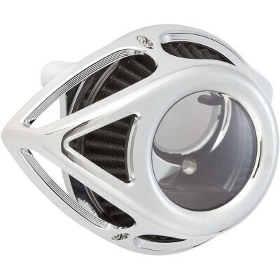 Arlen Ness Air Cleaner Clear Tear Chrome, 17-Up M8 (18-989, 1010-2559)