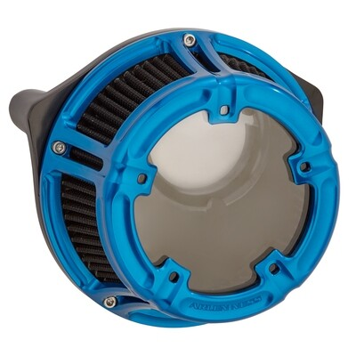 Arlen Ness Method Air Cleaner Blue, 00-17 Twin Cam (18-182, 1010-2540)