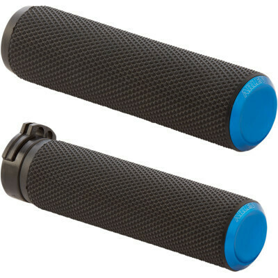 Arlen Ness Knurled Grips Blue, Cable (07-335, 0630-2593)