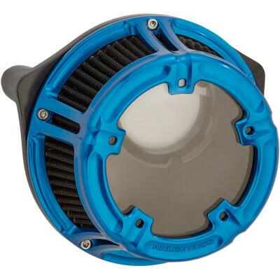 Arlen Ness Method Air Cleaner Blue, 17-Up M8 (18-180, 1010-2538)