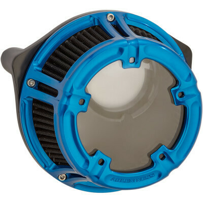 Arlen Ness Method Air Cleaner Blue, 17-Up M8 (18-180, 1010-2538)