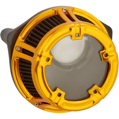 Arlen Ness Method Air Cleaner Gold, 00-17 Twin Cam (18-177, 1010-2536)