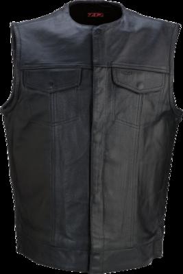 Z1R Motorcycle Vest Black Leather 338 XLarge (2830-0357)
