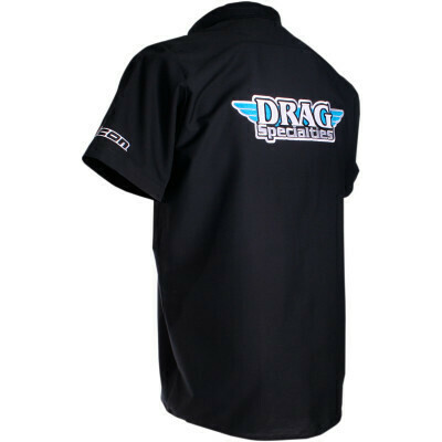 Drag Specialties Throttle Threads Shop Shirt Black 2XLarge (3040-2581)