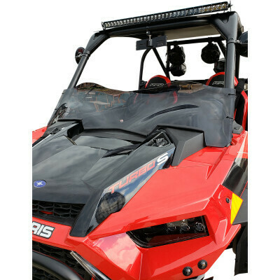 Polaris RZR XP 19-20 Klock Werks UTV Flare Dark Smoke Windshield (KW05-01-0531-DS, 2317-0420)