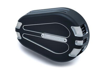 Kuryakyn Crusher Maverick Pro Air Cleaner Black Contrast Cut, 08-17 Twin Cam Electronic Throttle (9895)
