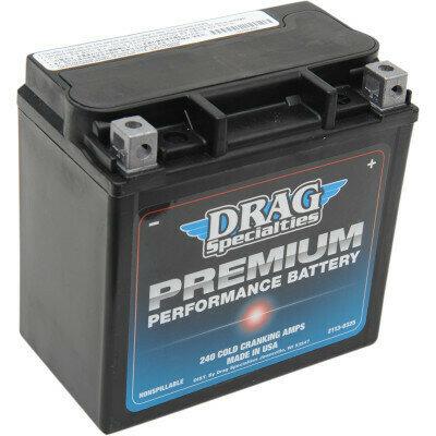 Drag Specialties Premium Battery, XL/Sportster/Street Harley (GYZ16HL, 2113-0325)