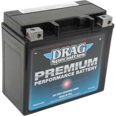 Drag Specialties Premium Battery, XL/Dyna/Softail/V-Rod Harley (GYZ20HL, 2113-0324)