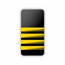 Epaulettes 4 Bar Soft Gold & Black