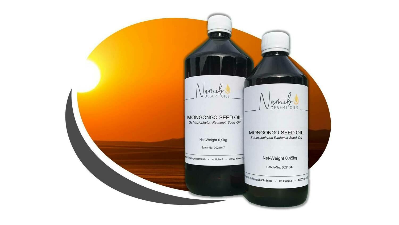 Mongongo Öl - im 0,5 Liter Gebinde ab 49,50 Euro/kg [netto]
