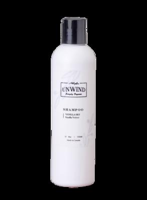 UNWIND Vanilla Sky Shampoo (Vanilla Vetiver) 8oz/250ml