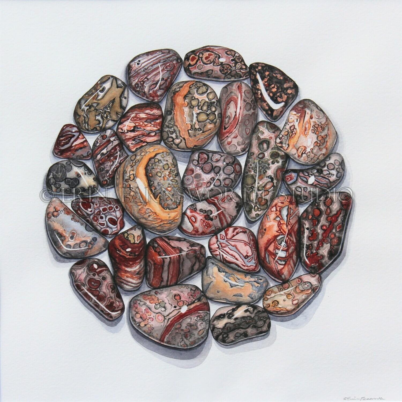 """""""Leopard Jasper Circle"""" 8.5 x 11 inch print"""