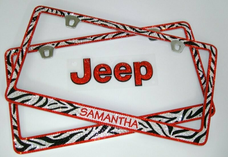 License Plate Frame With Full Custom Painted Design