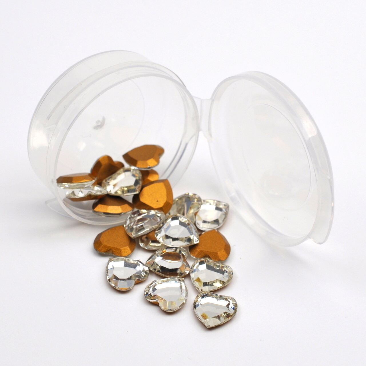 #4816/2 Crystal Heart 10mm (25 pcs) Gold Foiled
