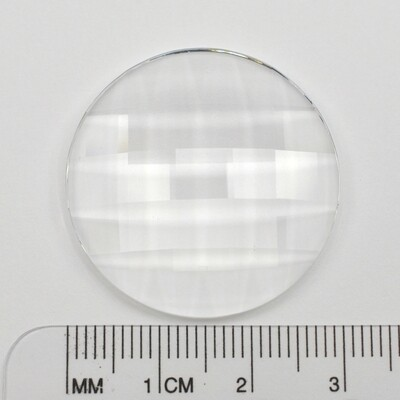 #2035 Crystal Chessboard Circle 30mm (1 pc) Unfoiled