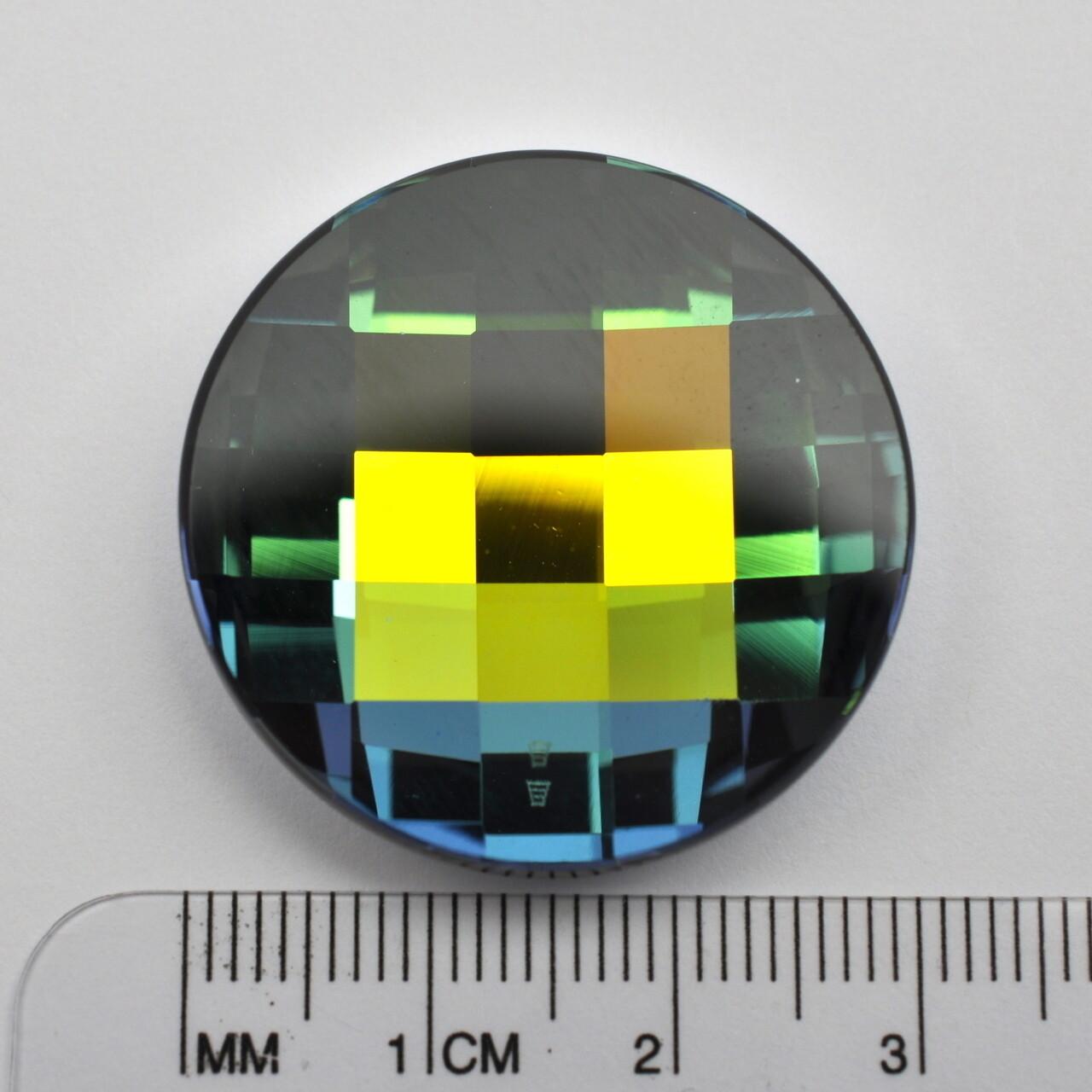 #2035 Crystal Sahara V Chessboard Circle 30mm (1 pc)