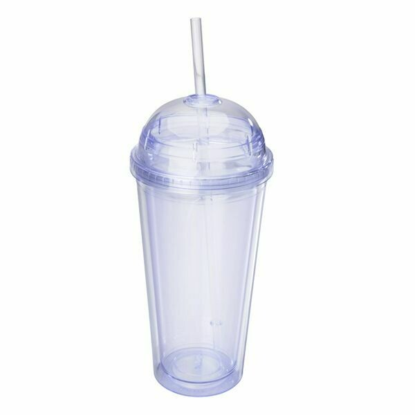 20oz Clear Acrylic Double walled Dome Tumbler