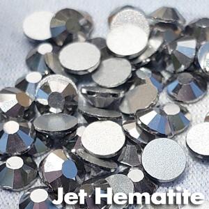 Jet Hematite - KiraKira Glass Rhinestones by CrystalNinja
