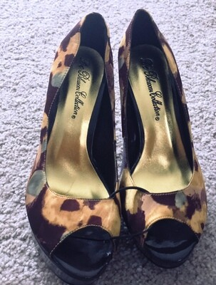 Leopard Design Court Shoes High Heels