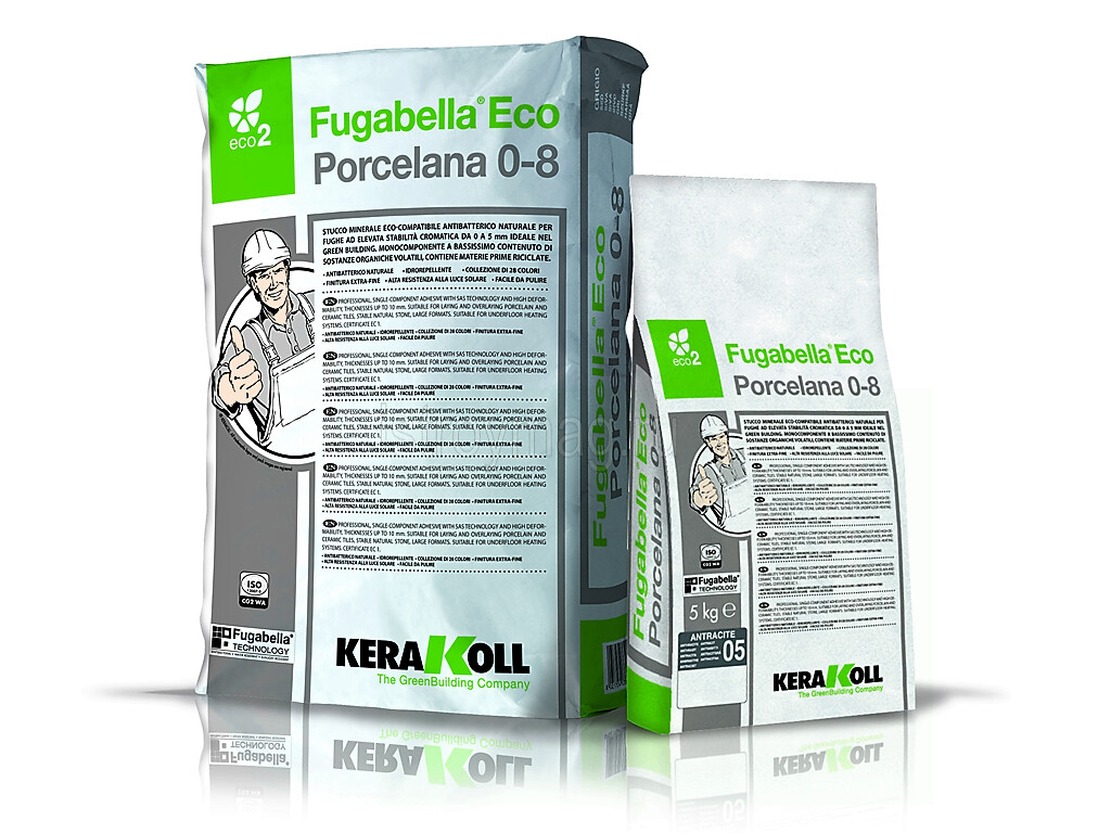 Цементная затирка Fugabella Eco Porcelana 0-8 KERAKOLL 25 кг