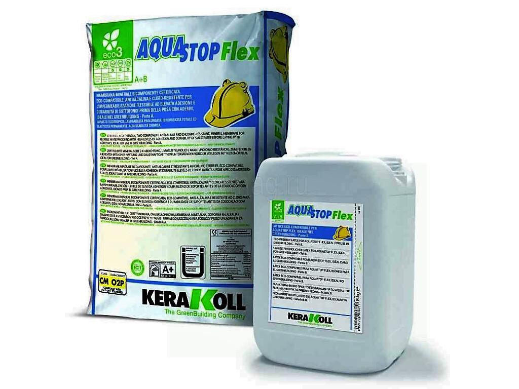 Двухкомпонентная гидроизоляция Aquastop Flex Kerakoll