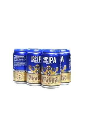 Hop Highway IPA By Belching Beaver Brew from Ocean Side, CA 12oz 6pk Can (F5-3)2