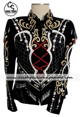 ​'Dawn Haas Myers' Black, Red, Gold & White Jacket