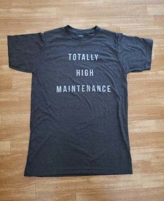Totally High Maintenance Charcoal Tee