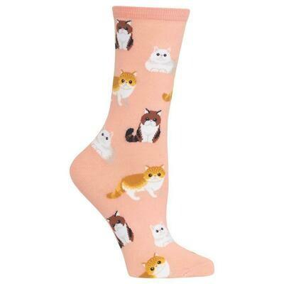 Women's Blush Cat Socks