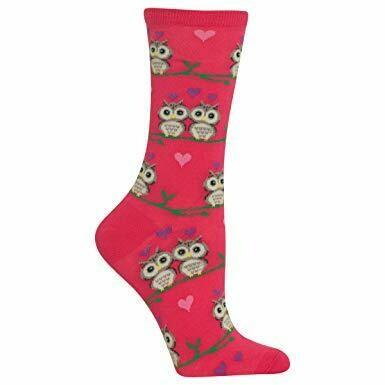Women's Pink Owl Socks