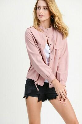 Pink Flap Pocket Jacket