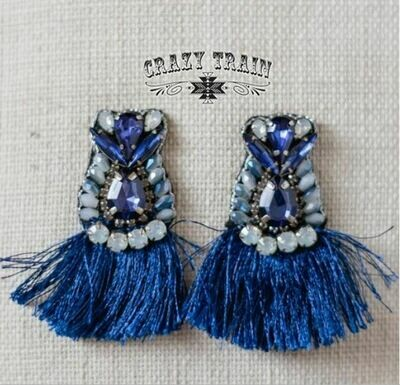Bluebird Fringe Earrings