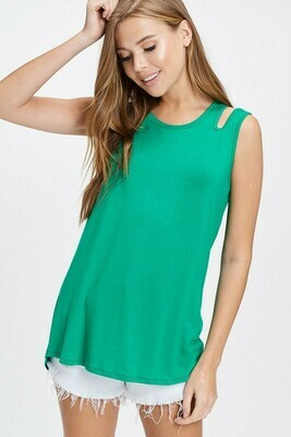 Green Cut Out Tank