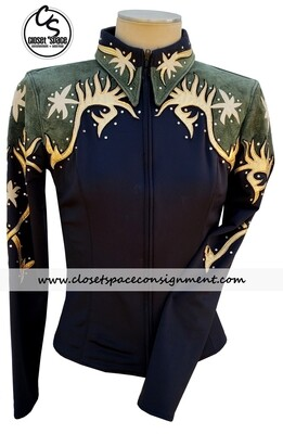 ​'Two Creeks' Black, Gold & Green Jacket