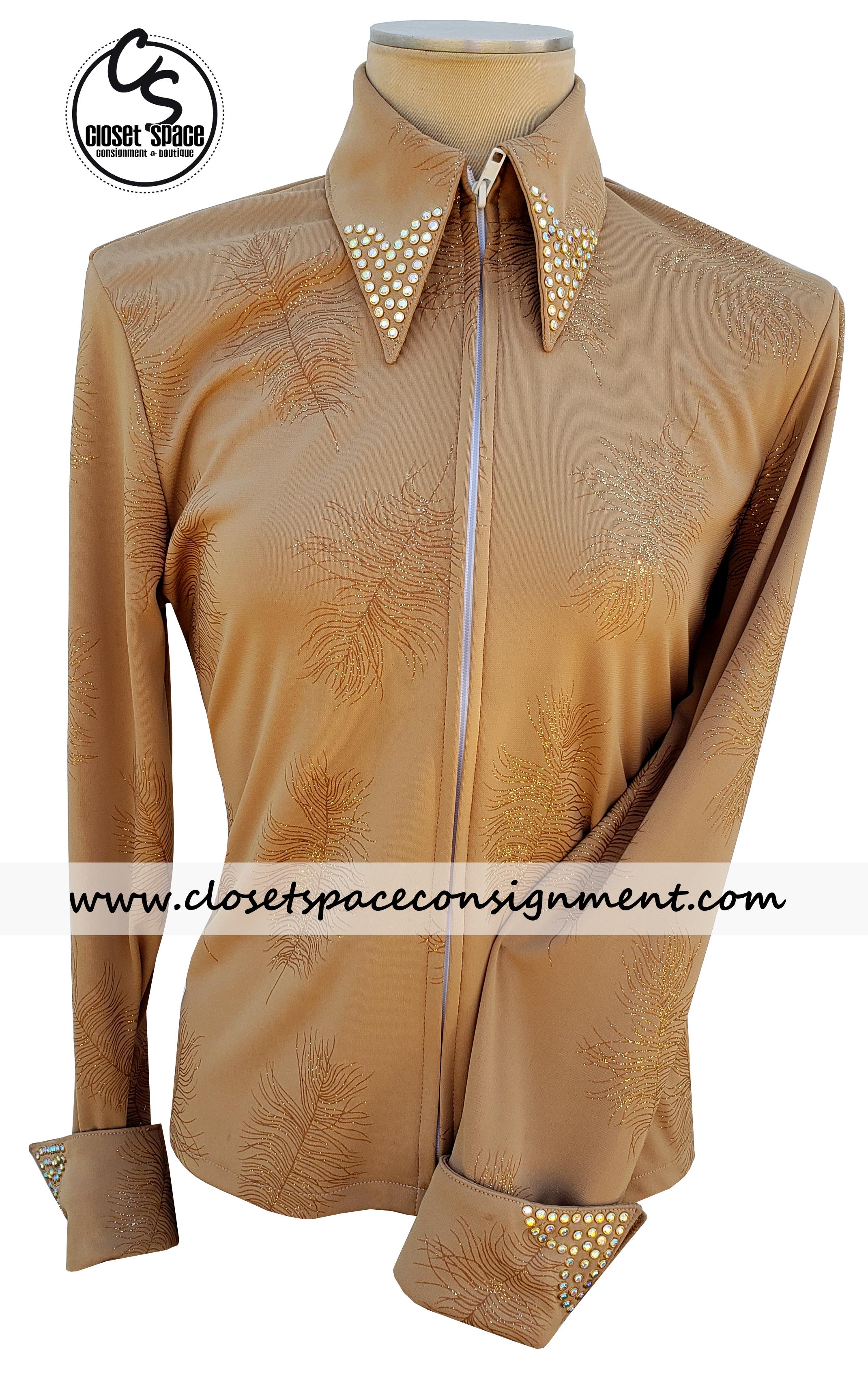 Tan Feather Shirt MA3
