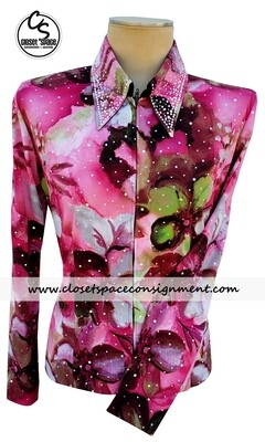 ​'Show Fancy' Pink Floral Shirt