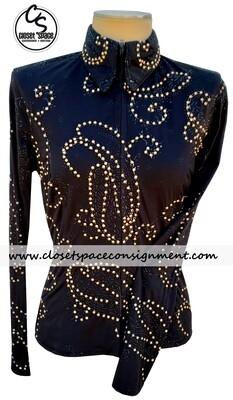 'Connie's' Black & Gold Shirt