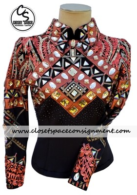 'Wicked Crystals by Christie' Black & Copper Top - NEW