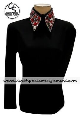 'Deb Moyer' Black & Red Top