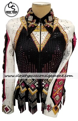 ​Black, Ivory, Pink & Gold Jacket