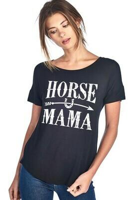 Black 'Horse Mama' Tee