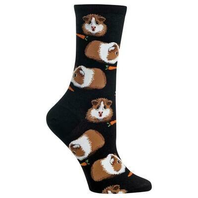 Women's Black Guinea Pig Socks