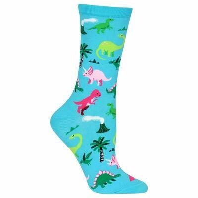 Women's Blue Dinosaur Socks