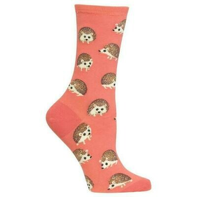 Women's Orange Hedgehog Socks