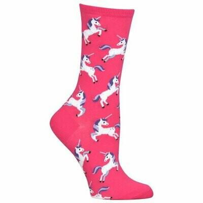 Women's Pink Unicorn Socks