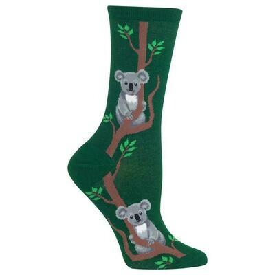 Women's Green Koala Socks