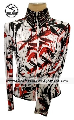 'Wire Horse' Black, Red & White Shirt