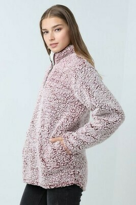 Mauve Fluffy Sweater