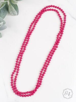 Vibrant Matte Pink Beads